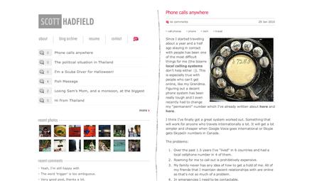 Scott Hadfield's Blog