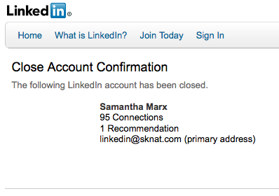 Samantha Marx has left the LinkedIn building
