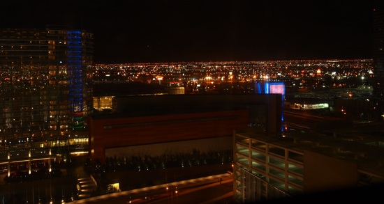 The view from our room at the Vdara Hotel