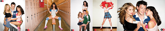 Cast of Glee in a raunchy photo shoot for GQ